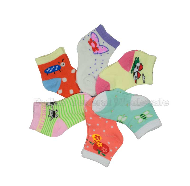 Baby Girls Cute Socks Wholesale - Dallas General Wholesale