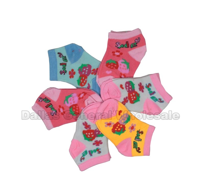 Baby Girls Strawberry Ankle Socks Wholesale - Dallas General Wholesale