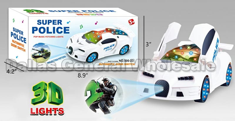 Toy 3D Projection Police Cars Wholesale