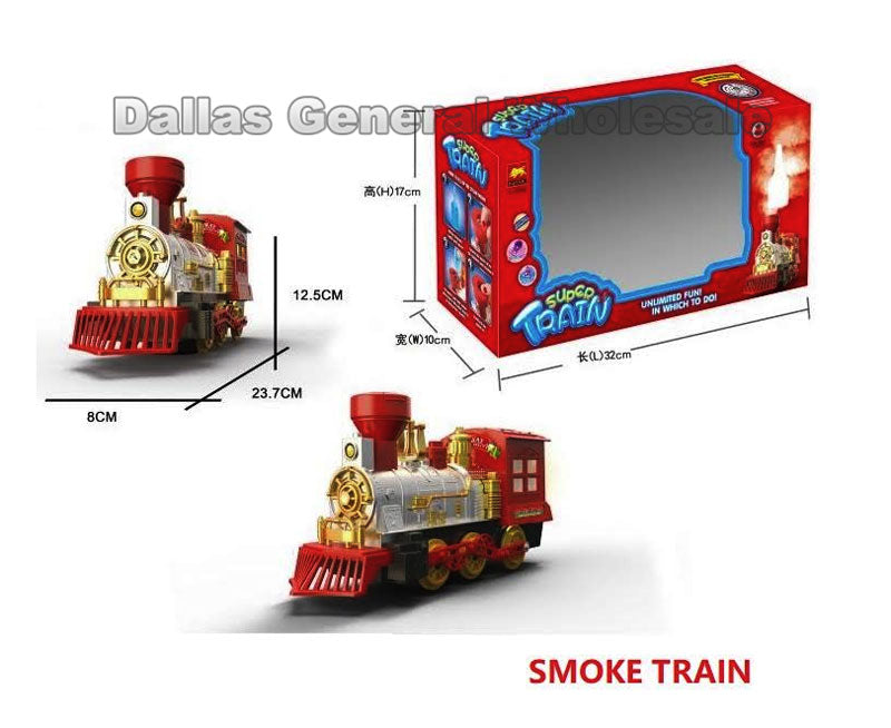 Toy Electronic Trains W/ Steam Wholesale - Dallas General Wholesale