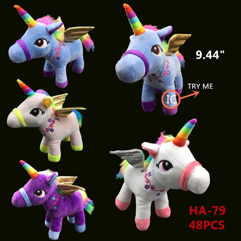 HA79 Plush Music Unicorns Wholesale - Dallas General Wholesale