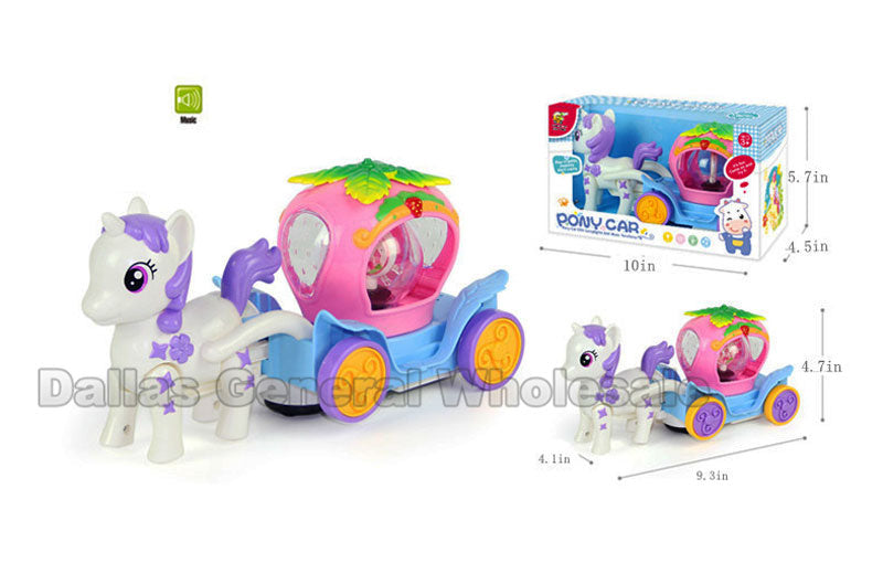 Electric Unicorn Carriage Play Set Wholesale - Dallas General Wholesale
