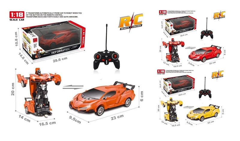 Toy R/C Transforming Robot Cars Wholesale - Dallas General Wholesale