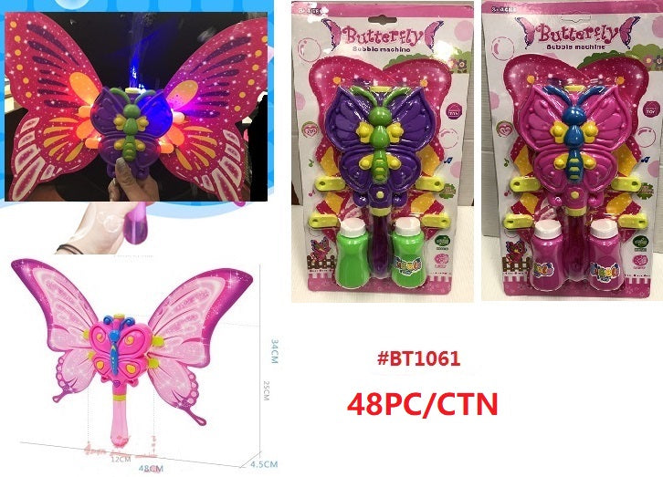Light Up Butterfly Bubble Blower Wand Wholesale - Dallas General Wholesale