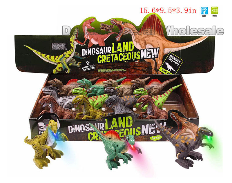 Wind Up Dinosaur Figures with Lights Wholesale - Dallas General Wholesale
