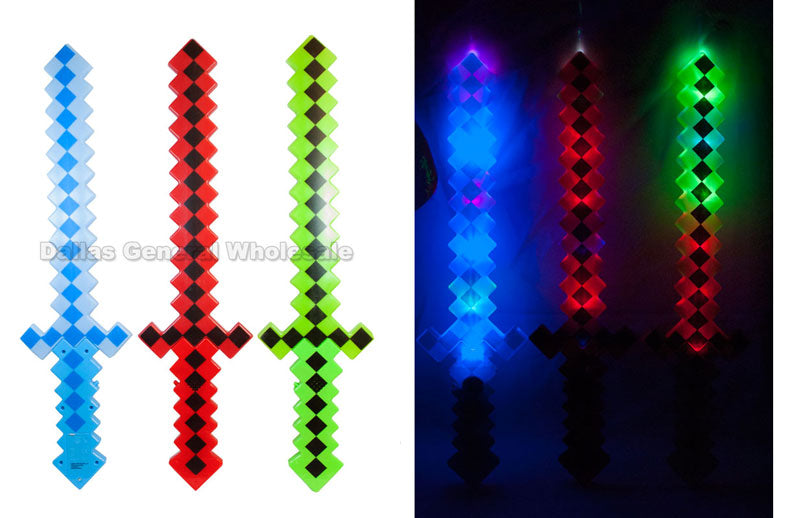 3D Pixelated Glowing Swords Wholesale - Dallas General Wholesale