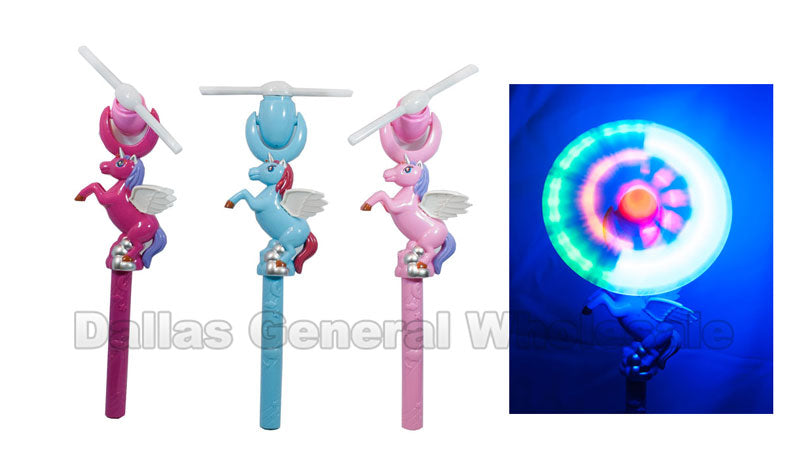 Toy Light Up Unicorn Windmill Wands Wholesale - Dallas General Wholesale