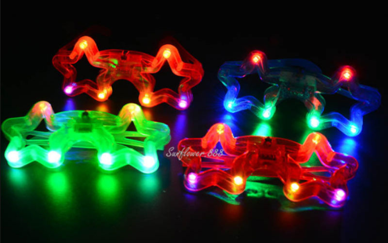 Flashing Light Up Novelty Star Glasses Wholesale - Dallas General Wholesale