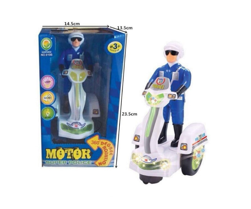 B/O Toy Police Officer On Scooter Wholesale - Dallas General Wholesale