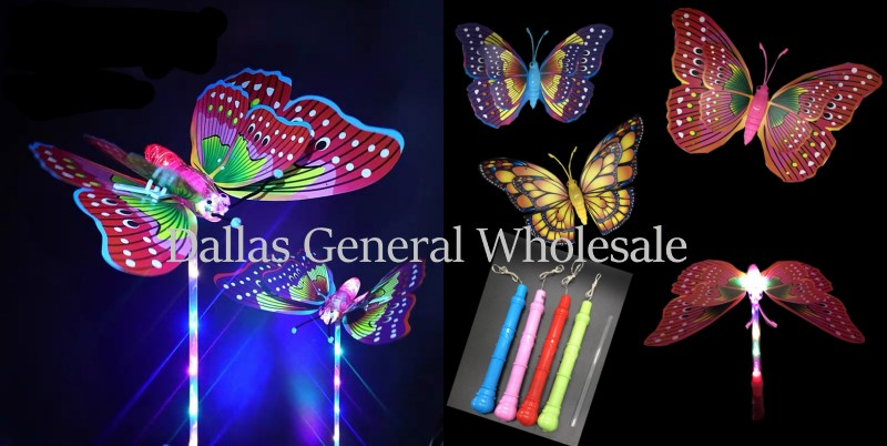 Carnival Light Up Butterfly Wand Wholesale - Dallas General Wholesale