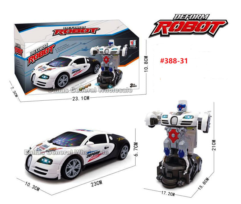 Toy Transform Robot Police Cars Wholesale - Dallas General Wholesale