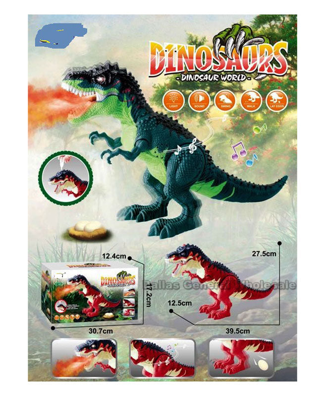 Toy Electronic T-rex Dinosaur w/ Smoke Wholesale - Dallas General Wholesale