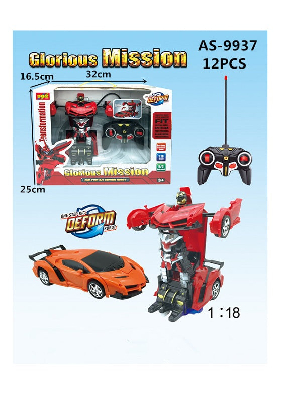 Toy Remote Control Transforming Robot Cars Wholesale - Dallas General Wholesale