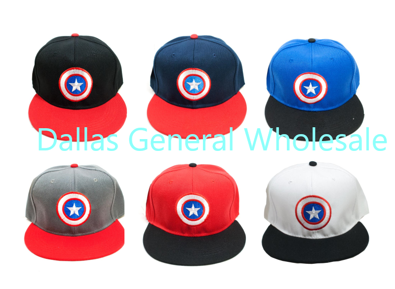 Young Adults Snap Back Flat Bill Caps Wholesale