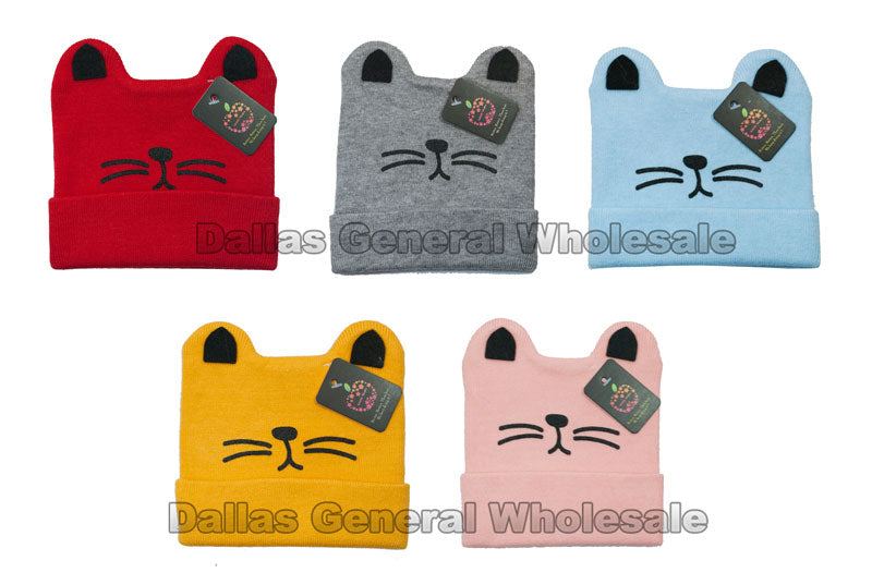 Infant Cat Ears Whiskers Beanie Hats Wholesale - Dallas General Wholesale