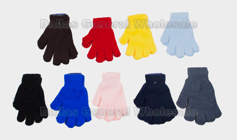 Kids Classic Fashion Full Finger Gloves Wholesale - Dallas General Wholesale