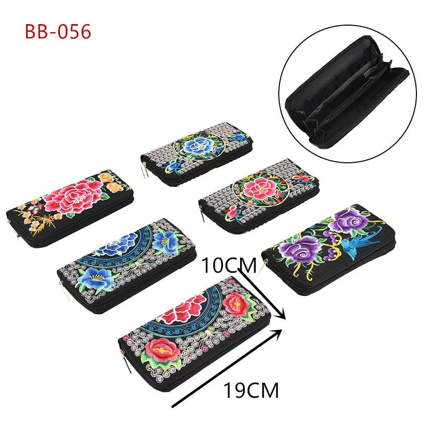 Fashion Embroidered Wallets Wholesale - Dallas General Wholesale