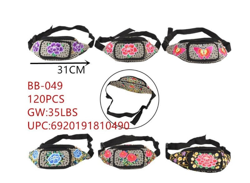 Cultural Floral Fanny Packs Wholesale - Dallas General Wholesale