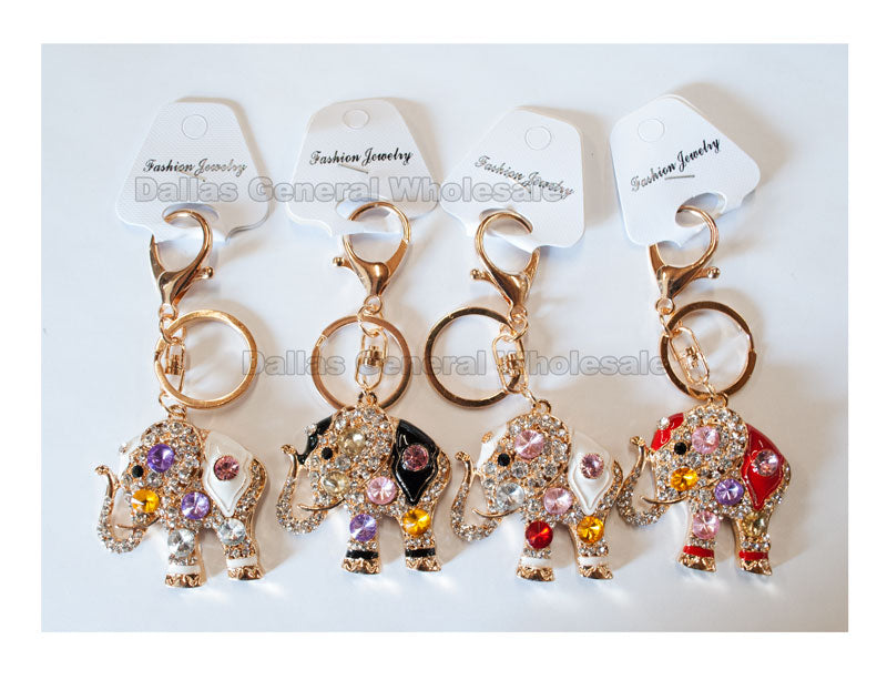 Bling Bling Elephant Key Chains Wholesale - Dallas General Wholesale