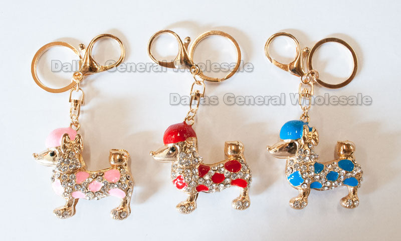 Bling Bling Puppy Key Chains Wholesale - Dallas General Wholesale