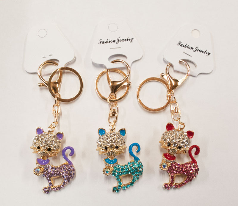 Kitty Cat Bling Bling Key Chains Wholesale - Dallas General Wholesale