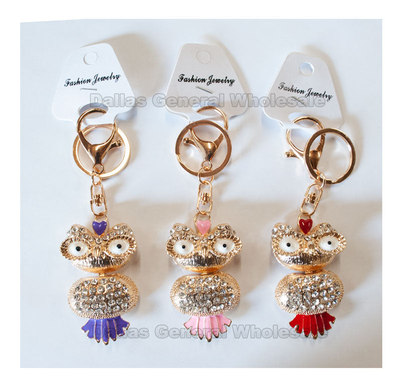 Bling Bling Owl Key Chains Wholesale - Dallas General Wholesale