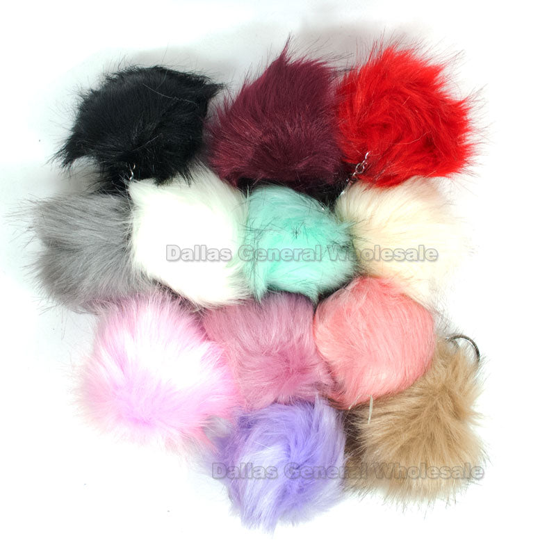 Fluffy Pom Pom Balls Key Chains Wholesale - Dallas General Wholesale