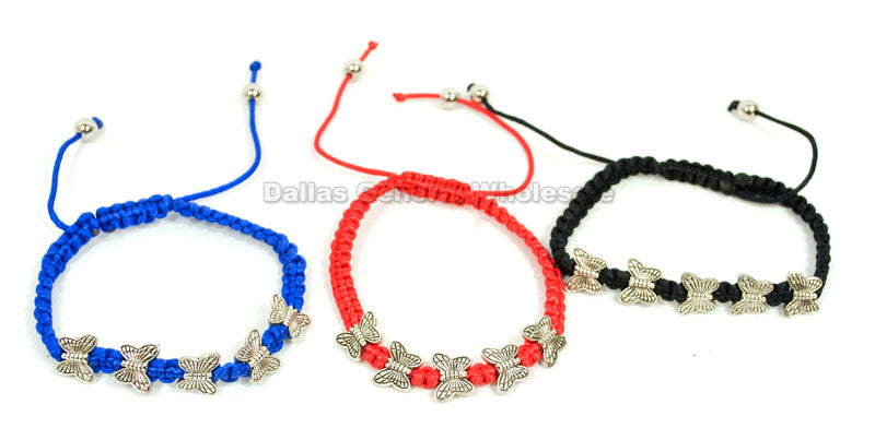 Fashion Drawstring Butterfly Bracelets Wholesale - Dallas General Wholesale