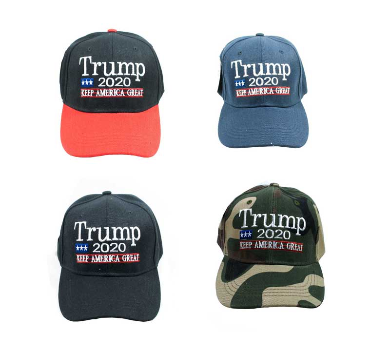 """TRUMP 2020"" Casual Baseball Caps Wholesale - Dallas General Wholesale"