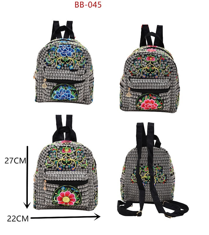 Embroidered Floral Backpacks Wholesale - Dallas General Wholesale