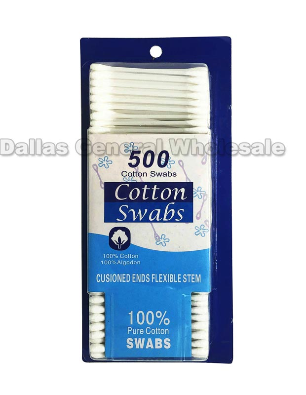 500 PC Cotton Swaps Wholesale