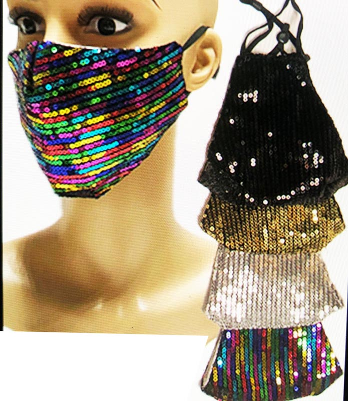 Ladies Anti-Pollen Sequins Face Masks Wholesale