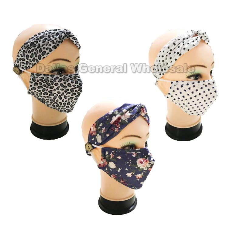 Anti-Pollen Filter Face Masks W/ Headband Wholesale
