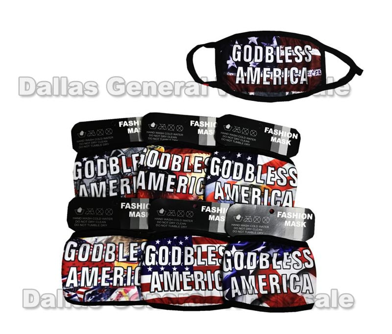 Anti-Pollen God Bless America Face Masks Wholesale