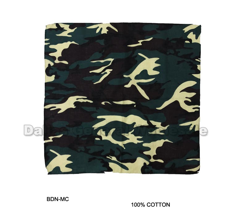 Green Camoflage Bandannas Wholesale