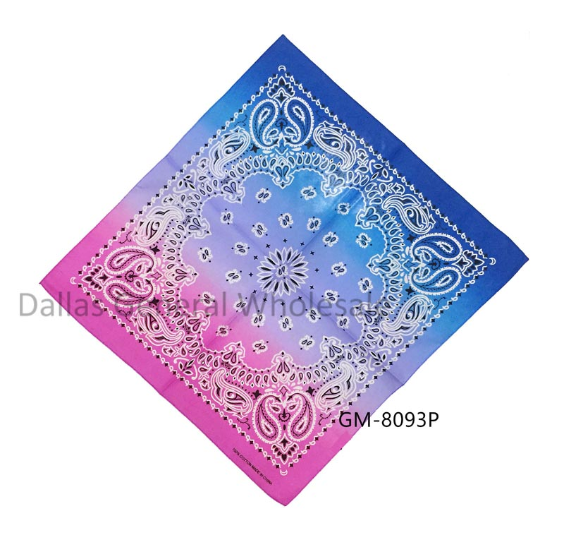 Combine Colors Paisley Bandannas Wholesale