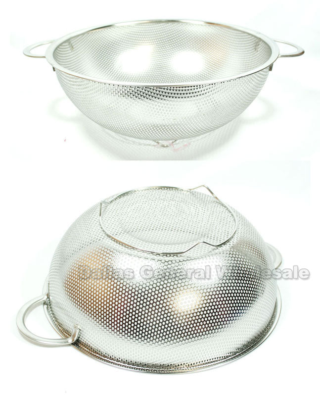 Stainless Steel Rinse Baskets Colanders Wholesale - Dallas General Wholesale