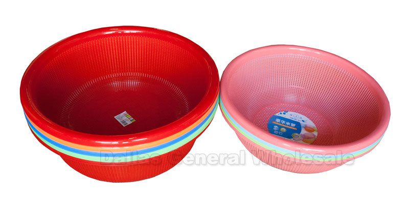 Large Rinse Strainer Baskets Wholesale - Dallas General Wholesale