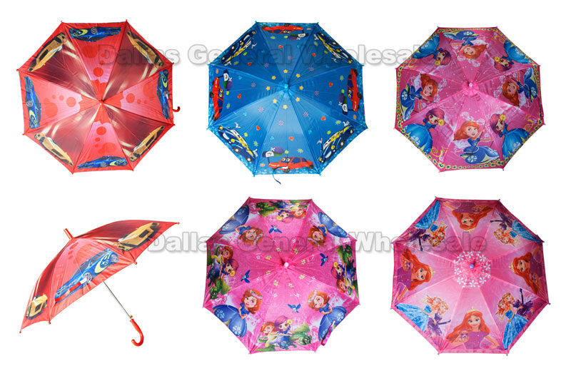Little Kids Printed Umbrellas Wholesale - Dallas General Wholesale