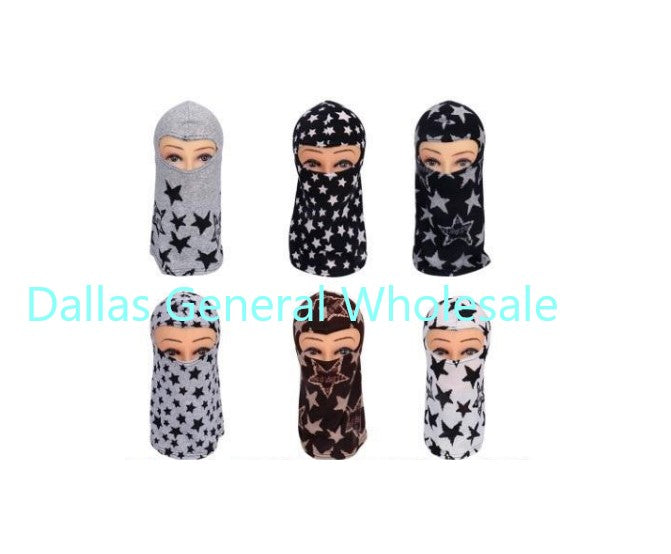 Stars Printed Face Masks Balaclava Wholesale - Dallas General Wholesale