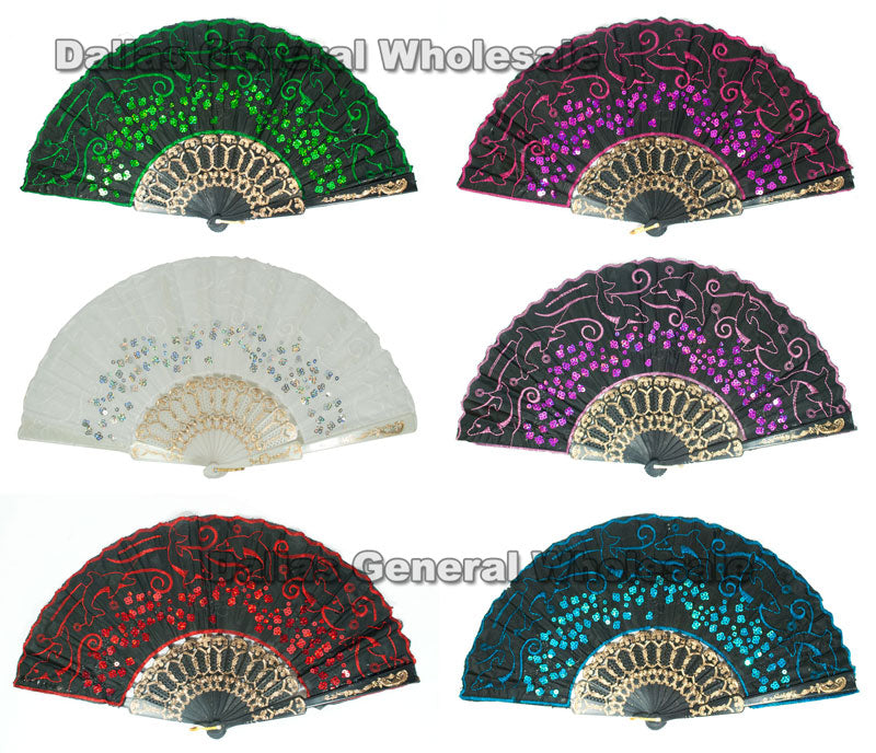 Asian Hand Held Folding Fans Wholesale - Dallas General Wholesale