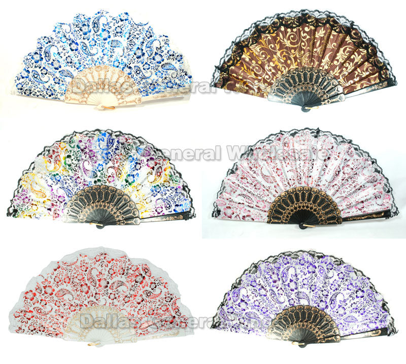 Lace Asian Folding Fans Wholesale - Dallas General Wholesale