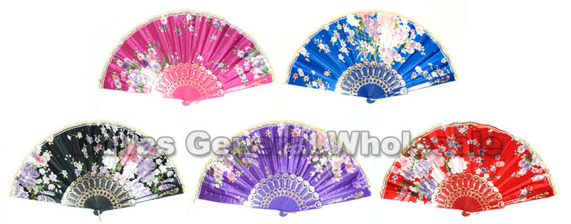 Oriental Hand Held Folding Fans Wholesale - Dallas General Wholesale