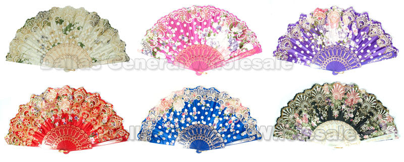 Traditional Hand Held Fans Wholesale - Dallas General Wholesale