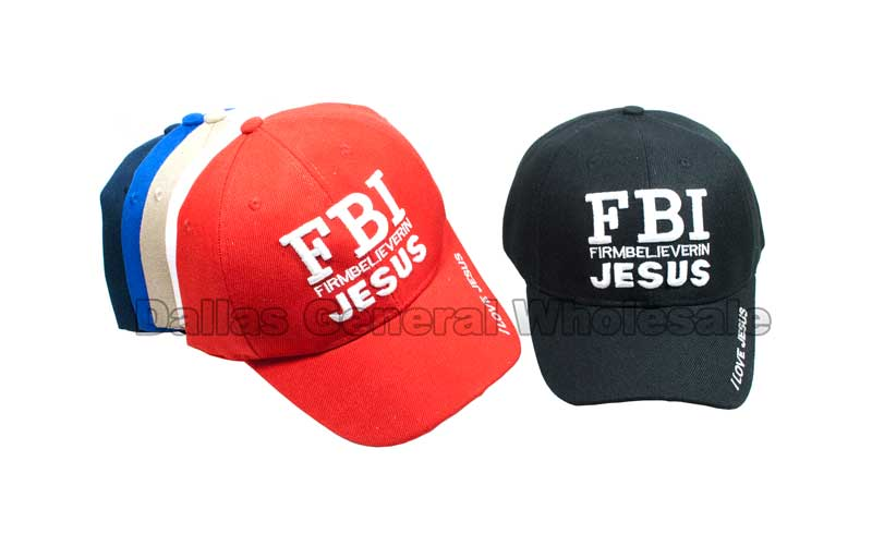 """Firm Believer in Jesus"" Adults Casual Caps Wholesale - Dallas General Wholesale"
