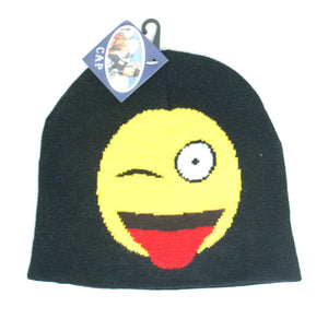 Emotion Expression Icon Printed Winter Beanie Caps Wholesale - Dallas General Wholesale