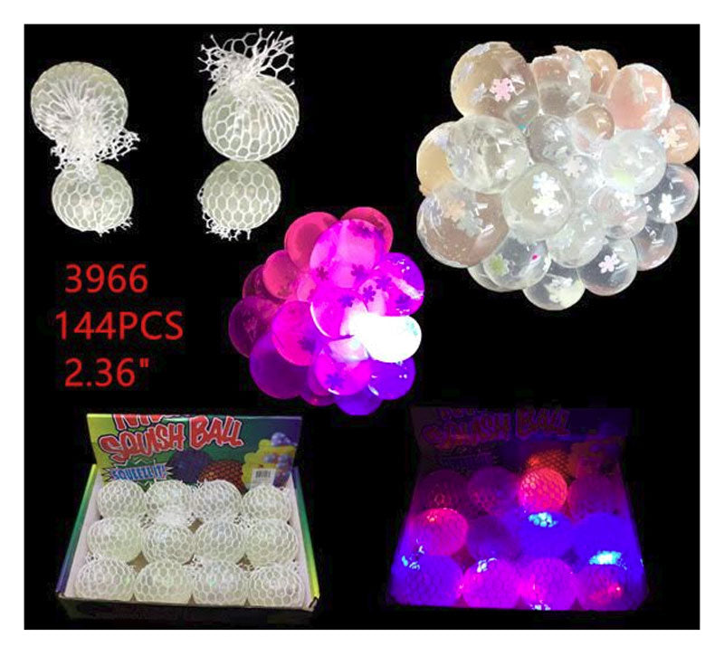 Light Up Squishy Mesh Balls Wholesale - Dallas General Wholesale