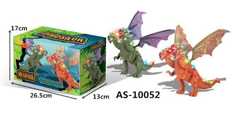 B/O Toy 3 Headed Dragons Wholesale - Dallas General Wholesale