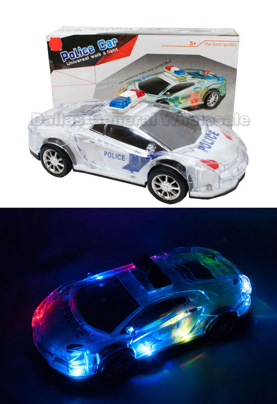 Flashing Light Up Siren Toy Police Cars Wholesale - Dallas General Wholesale