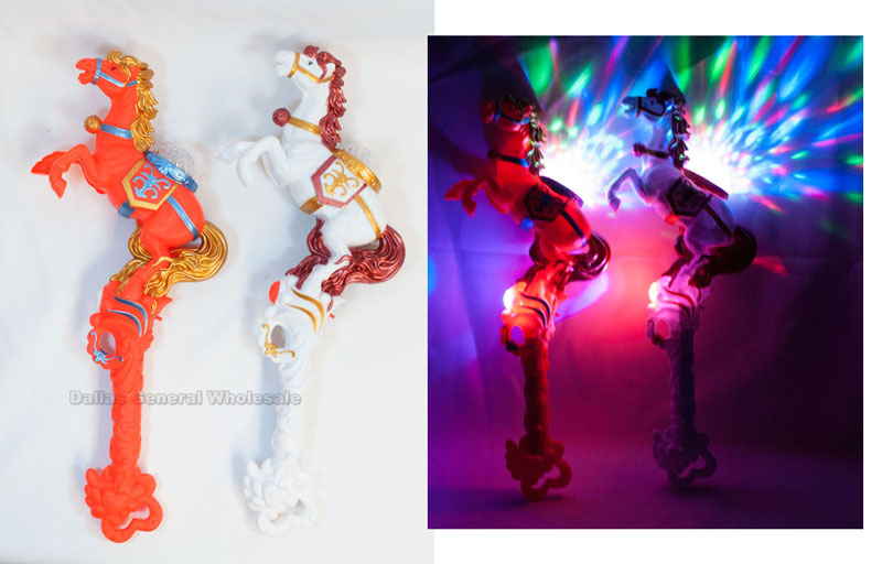 Flashing Light Up Horse Stick Wholesale - Dallas General Wholesale